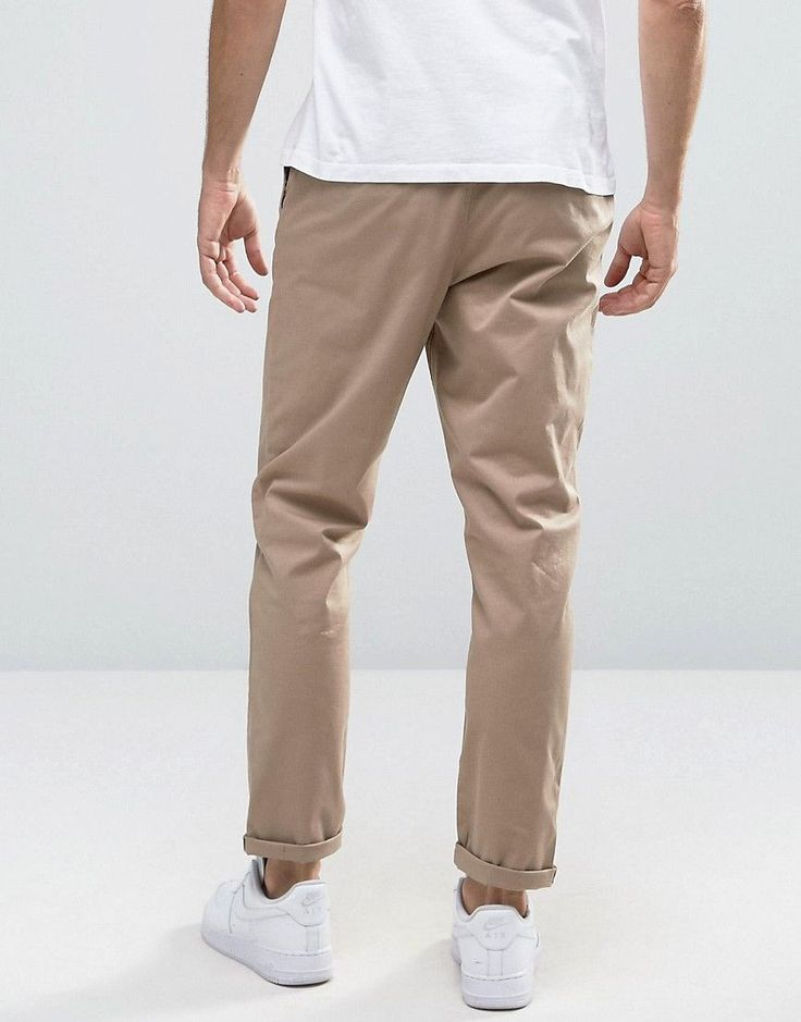 ASOS Tapered Chinos in Stone - Stone