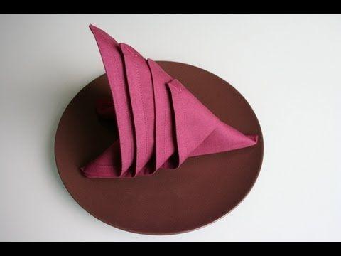 Servietten falten - Segel