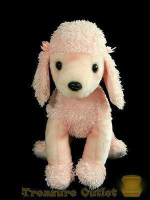 Ty Beanie Buddies Stuffed Plush Pink Poodle Puppy Dog Brigitte 2001
