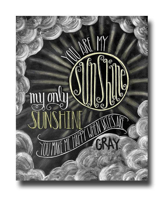 You Are My Sunshine Chalkboard Art Chalk Art Baby by TheWhiteLime, $17.00