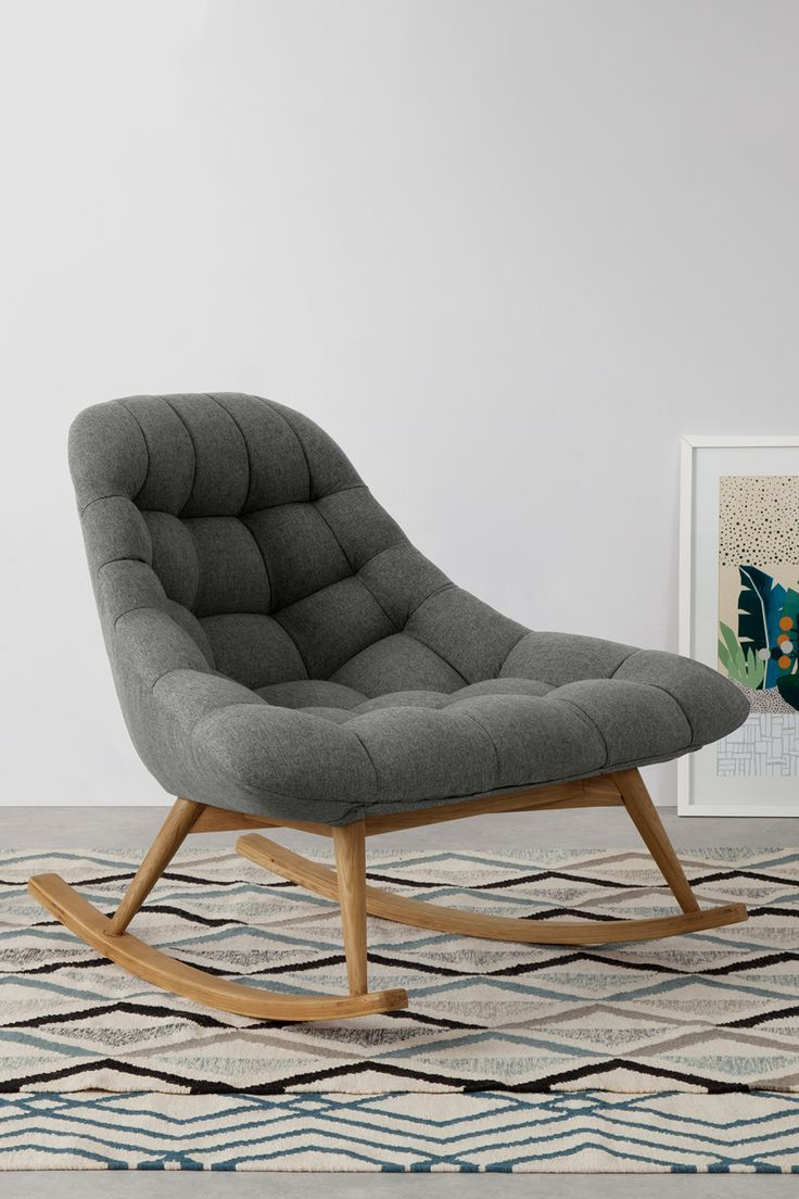 The Laid Back Shape Of Our Kolton Rocking Chair Is A