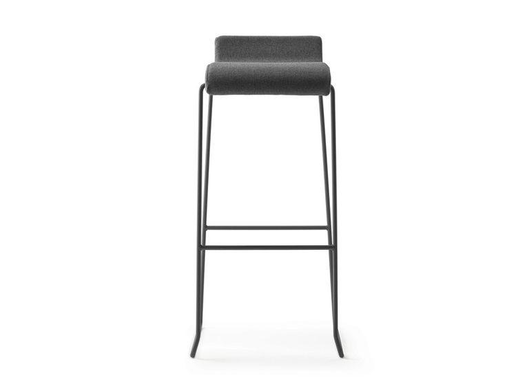High sled base stool with footrest NOVA 75 by ONDARRETA design Ondarreta Team