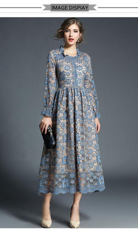 H Хан Queen Новый Для женщин Кружево платье крю…