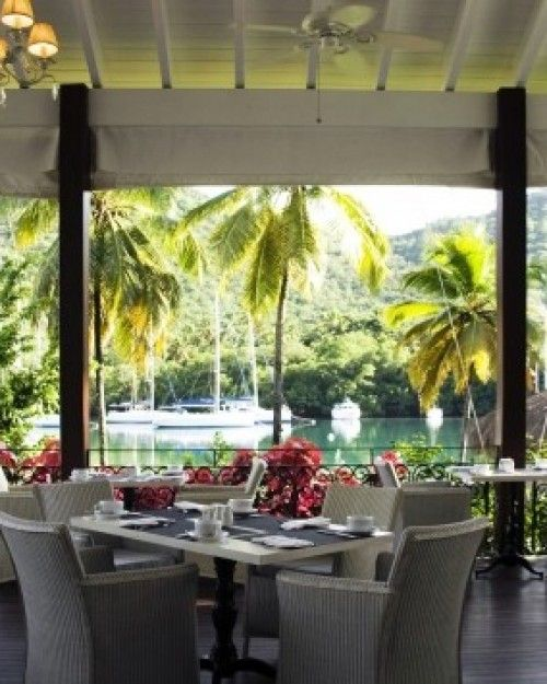 Capella Marigot Bay, St. Lucia (Castries, St. Lucia) - #Jetsetter,  The Boudreau Restaurant provides a fine dining experience on the resort.