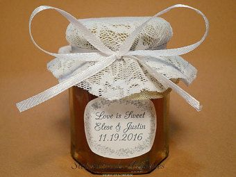 Bride to bee Honey Wedding Favors or when lace meets honey!
