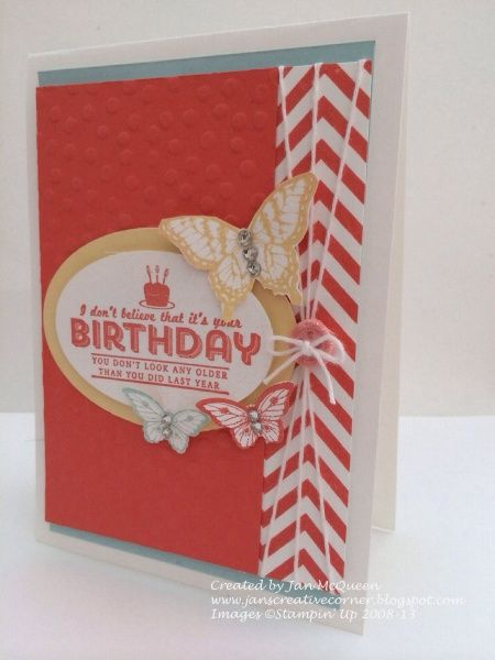 SALE-A-BRATION card featuring Stampin' Up! See Ya Later stamp set #StampinUp
