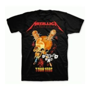 Metallica Tour '86 T-Shirt - Head bang all night in this smashing Metallica Tour 86 T-Shirt from their memorable 1986 Damage Inc. Tour.