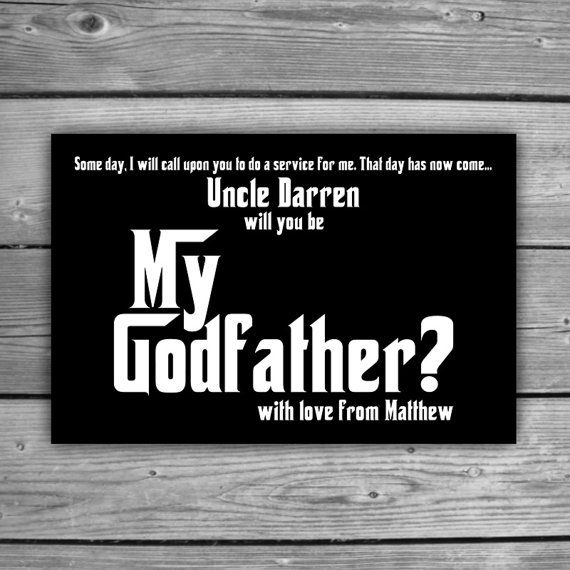 Personalized Godfather Card Printable Will You By