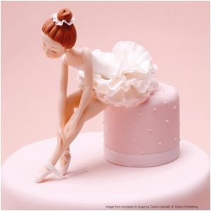 This elegant ballerina is modelled by Carlos Lischetti in his new book Animation in Sugar.