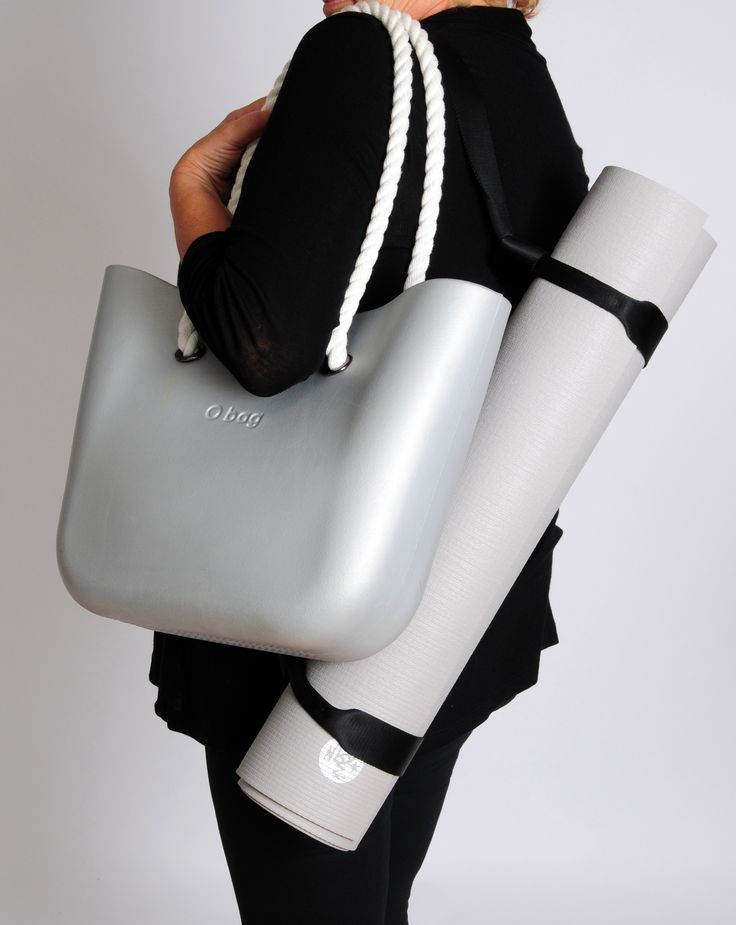 Complete your #athleisure style with a fashionable and functional O Bag! Silver O Bag with White Rope handles pictured... get 15% the silver O Bag this week with promo code: silverobag!