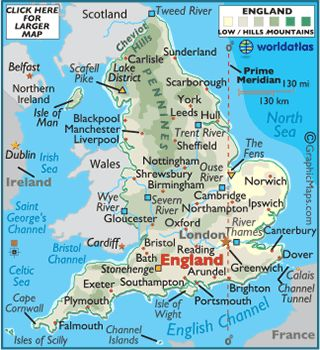 map of England for middle age unit