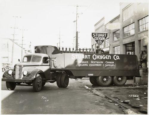 General Motors Truck Model T 16 L 8 In Front Of Stuart