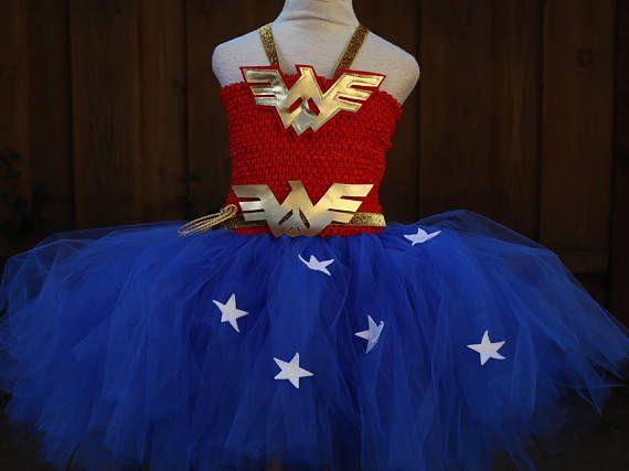 Wonder Woman Costume  Wonder Woman Dress  Wonder Woman Tutu