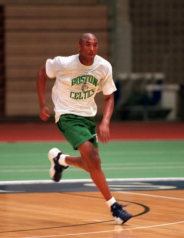 Kobe Bryant during his pre-draft workout with the Celtics. - NBA pics