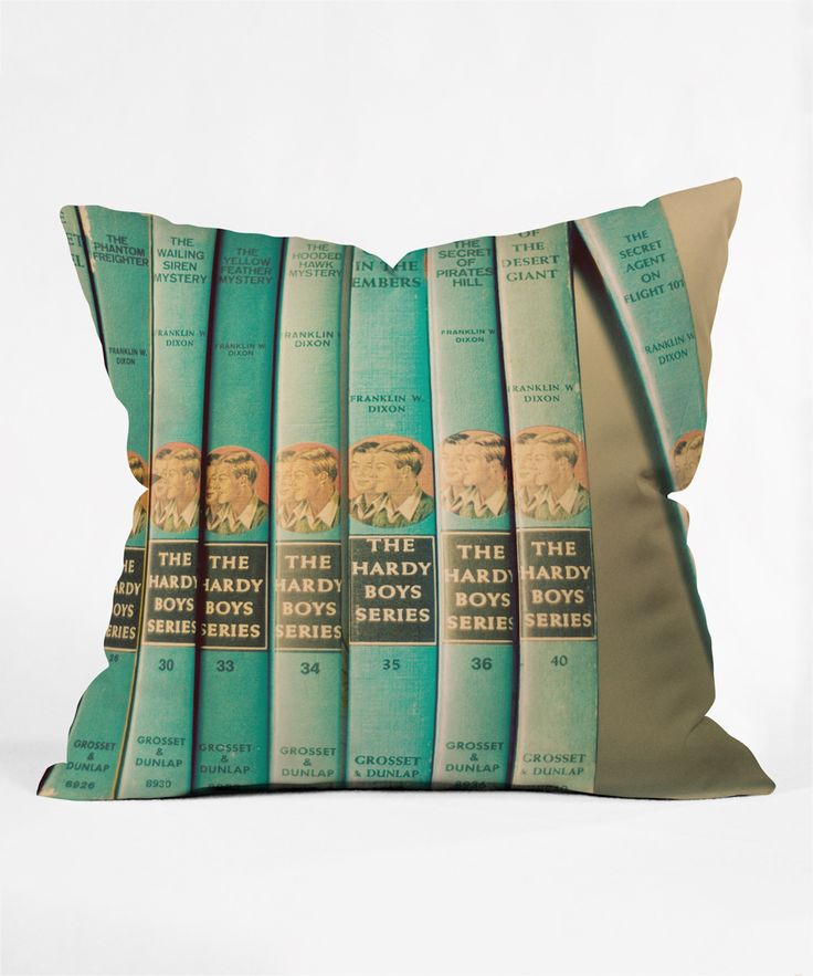 DENY Designs Hardy Boys Throw Pillow | ARTIST: THE LIGHT FANTASTIC  |  ART TITLE: ONE OF THE BOYS