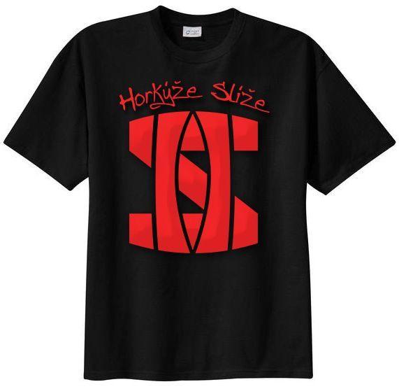 Tričko Horkýže Slíže - čierne, Logo červené