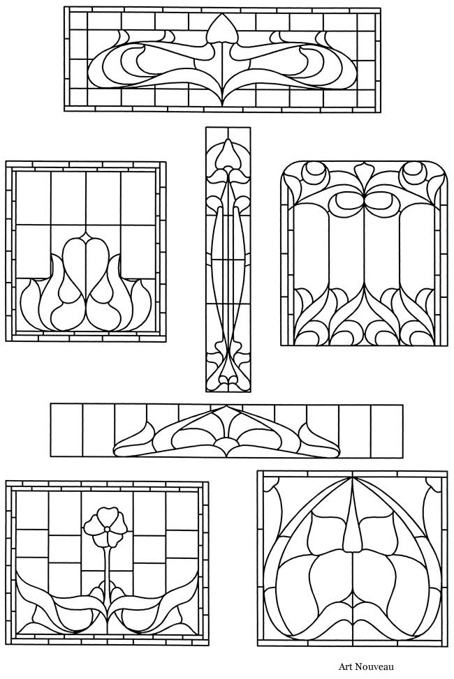 printable victorian stained glass patterns | Wel Victorian Stained Glass Designs come to Dover Publications