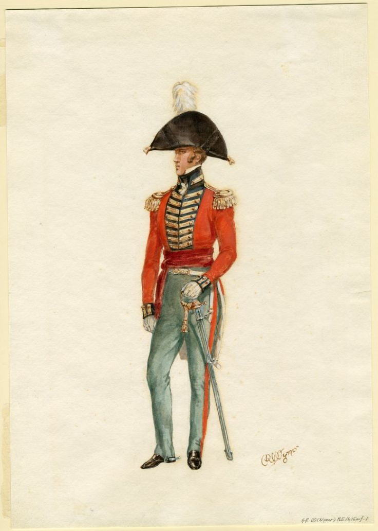 Royal Engineers officer, 1815