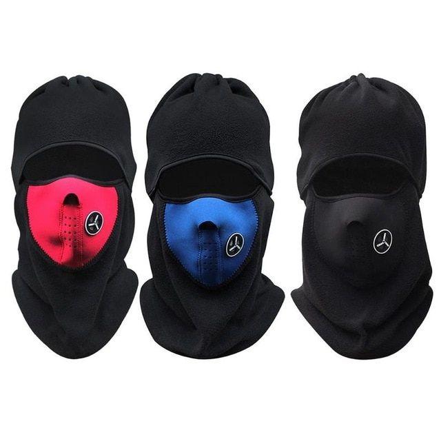 RockBros Black Winter Fleece Hat Windproof Warm Cap with Visor Outdoor Headgear
