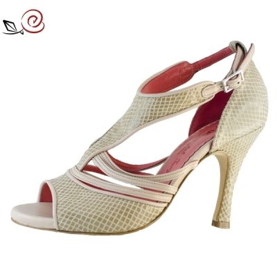 Tango shoes for women in beige snake print leather