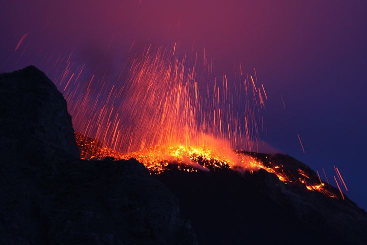 Mount Stromboli, Italy - There's nothing more terrifyingly beautiful than an active volcano, and you're almost guaranteed to see some eruption at Mount Stromboli, a volcano in Sicily. It has been in continuous eruption for the last 2,000 years, and you can get a view of the lava fireworks by hiking around the island to a good observation point or by checking it out from a comfortable cruise ship.