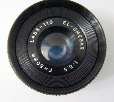 50 mm F3.5 El-Omegar L455-110 Enlarging Lens Photography Darkroom Printing