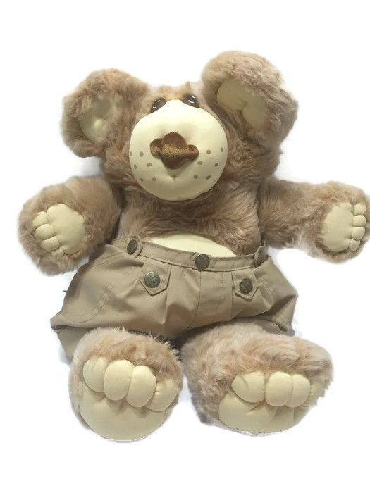 FURSKINS 1983 1984 Xavier Roberts Stuffed Plush Teddy Bear with Shorts Vintage #Furskins