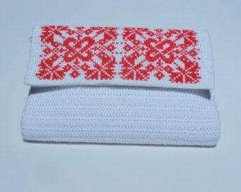 Crocheted Handbag with Romanian Traditional by CatanaHandmade