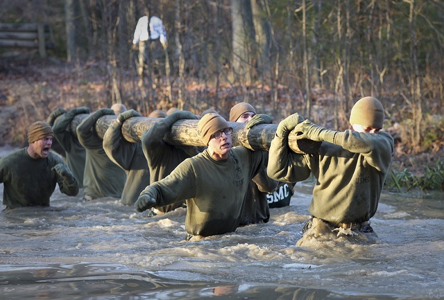 Marine officer candidates press through by United States Marine Corps Official Page, via Flickr