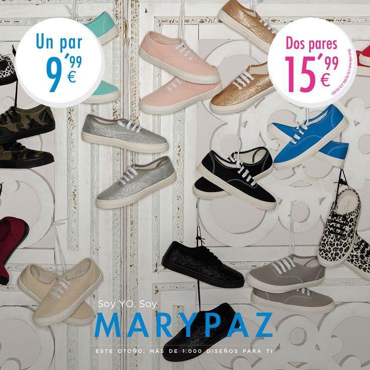 ¿¿ Conoces la promoción en MARYPAZ 2.0 ?? Visita nuestra Online Store y descubre la variedad de deportivas que tenemos para ti 😍😍 ¡¡Son irresistibles!! Hazte con estas MARYPAZ 2.0 aquí ►http://www.marypaz.com/trendy/deportiva-marypaz-2-0.html 💕 Soy YO. Soy MARYPAZ 💕 ¡¡Más de mil diseños para ti!! #SoyYoSoyMARYPAZ #Follow #winter #love #otoño #fashion #colour #tendencias #marypaz #locaporlamoda #BFF #igers #moda #zapatos #trendy #look #itgirl #invierno #AW16 #igersoftheday #girl #autumn D
