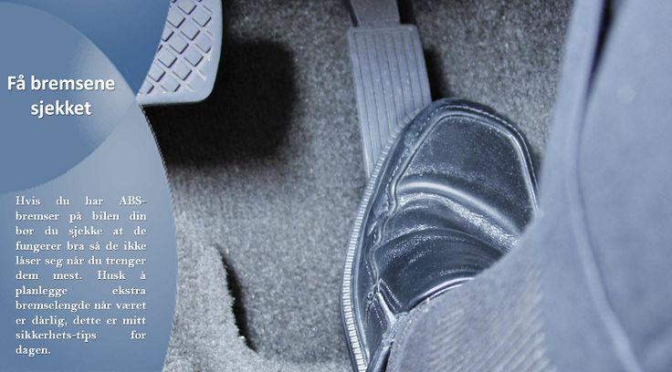 Bremser   Unngå å kjøre på isdekkede veier med bremser som ikke er i perfekt stand. Regelmessig sjekk er essensielt. #sommerdekkene