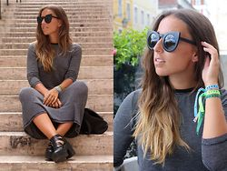 Claudia Villanueva - Zerouv Sunglasses, Zara Dress, Primark Boots - Lisbon