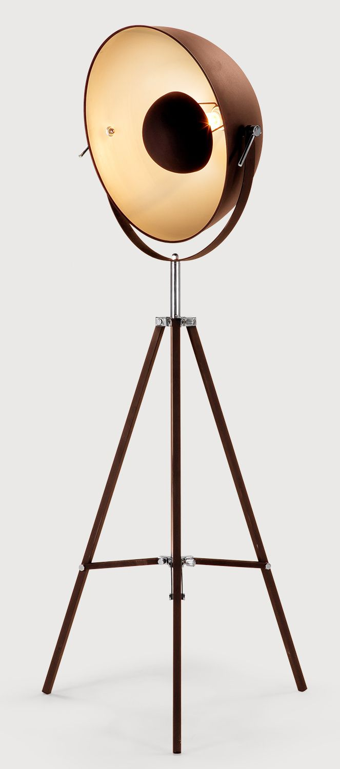 Fm0176 1rust metal floor lamp steel tripod floor lamp cooking