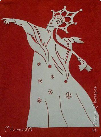 Картина панно рисунок Новый год Вырезание Зима -красавица Бумага