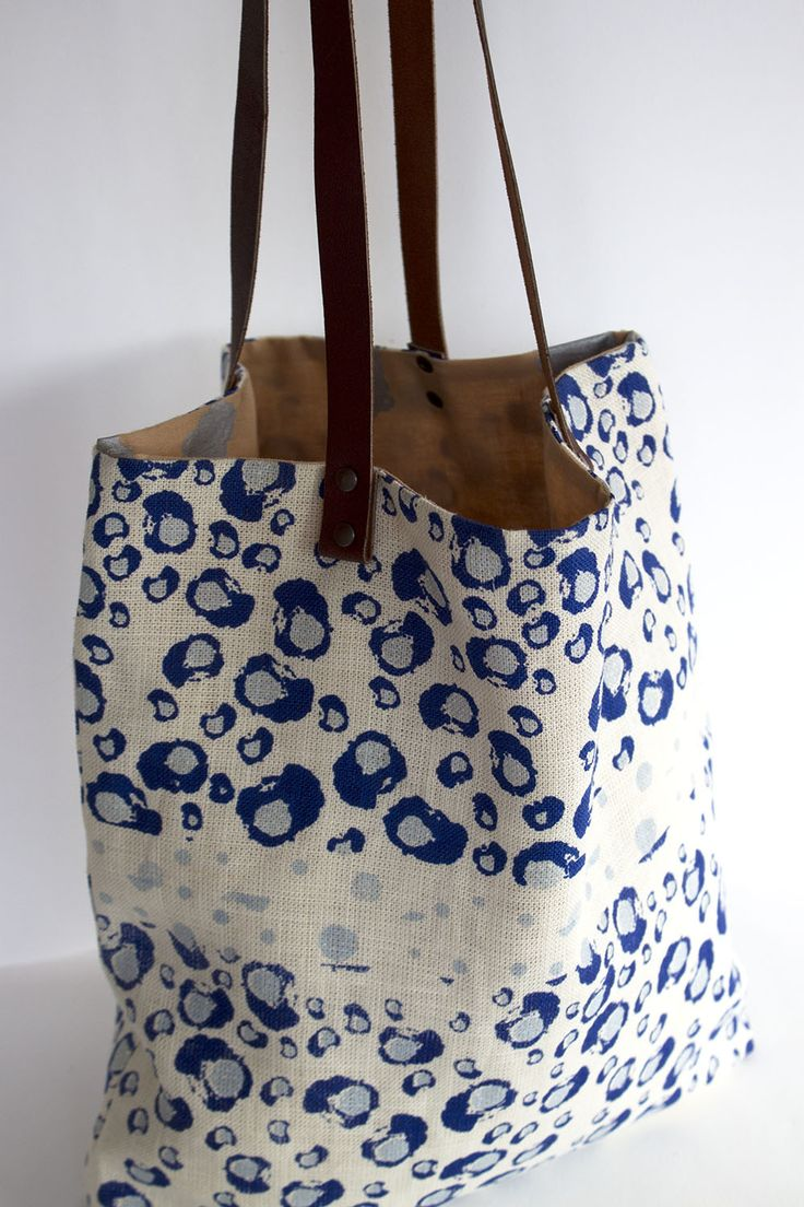 Hand made and hand printed tote bag. 100% hemp and cotton lining. Water based inks. Available on Etsy.
