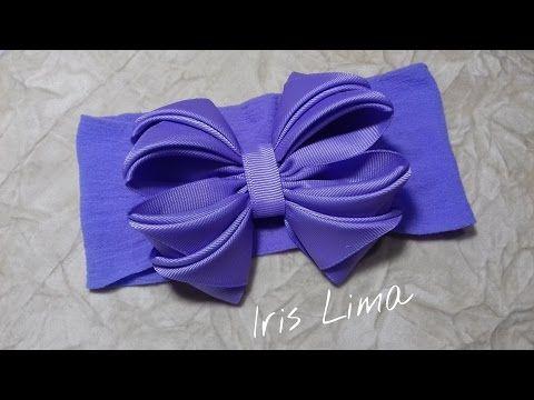 Como fazer laço mil faces Diy ,Tutorial , Pap By Iris Lima How To Make a Hair Bow - YouTube