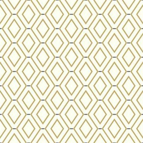 Wc7584 Diamond Duo White And Gold Wallpaper Brown