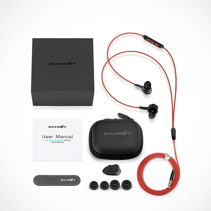 [Dual Dynamic Driver] BlitzWolf® BW-ES2 Wired Control In-ear Earphone Headphone With Mic Sale - Banggood.com
