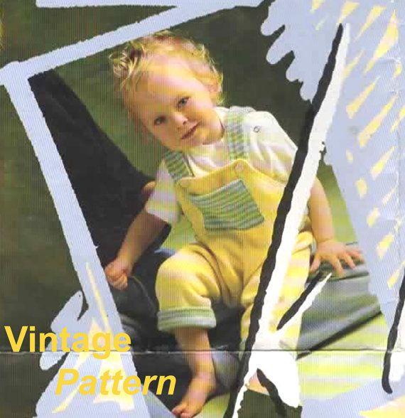 Knitting Pattern  Vintage Baby Dungarees PDF Pattern by MyMayaMade, $3.33