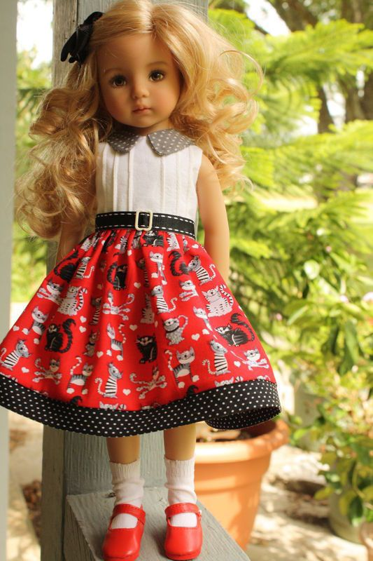 kitty dress for Little Darling, Effner 13, Dianna Effner, Betsy McCall: