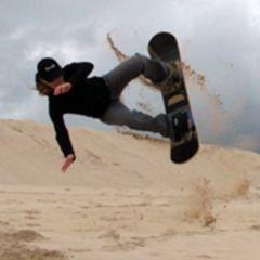 Sandboarding for one, Johannesburg