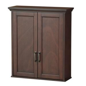 mahogany bathroom wall cabinet foremost ashburn 23 1 2 in w x 27 in h x 8 in d 19377