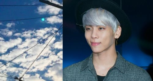 """Jonghyun Turned the Moon Pearl Aqua"" Trending. ""The moon changed colors right after Jonghyun's Funeral.""[[MORE]]Many fans are each uploading photos in Japan after Jonghyun's funeral today, of the moon being Pearl Aqua.  Jonghyun, this is really..."