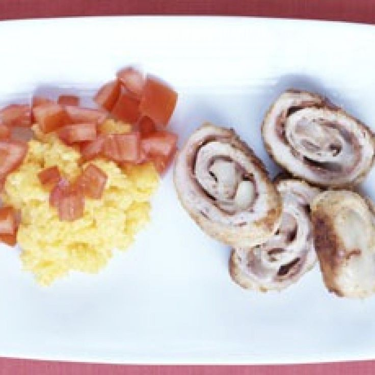 Turkey Roll-Ups With Polenta