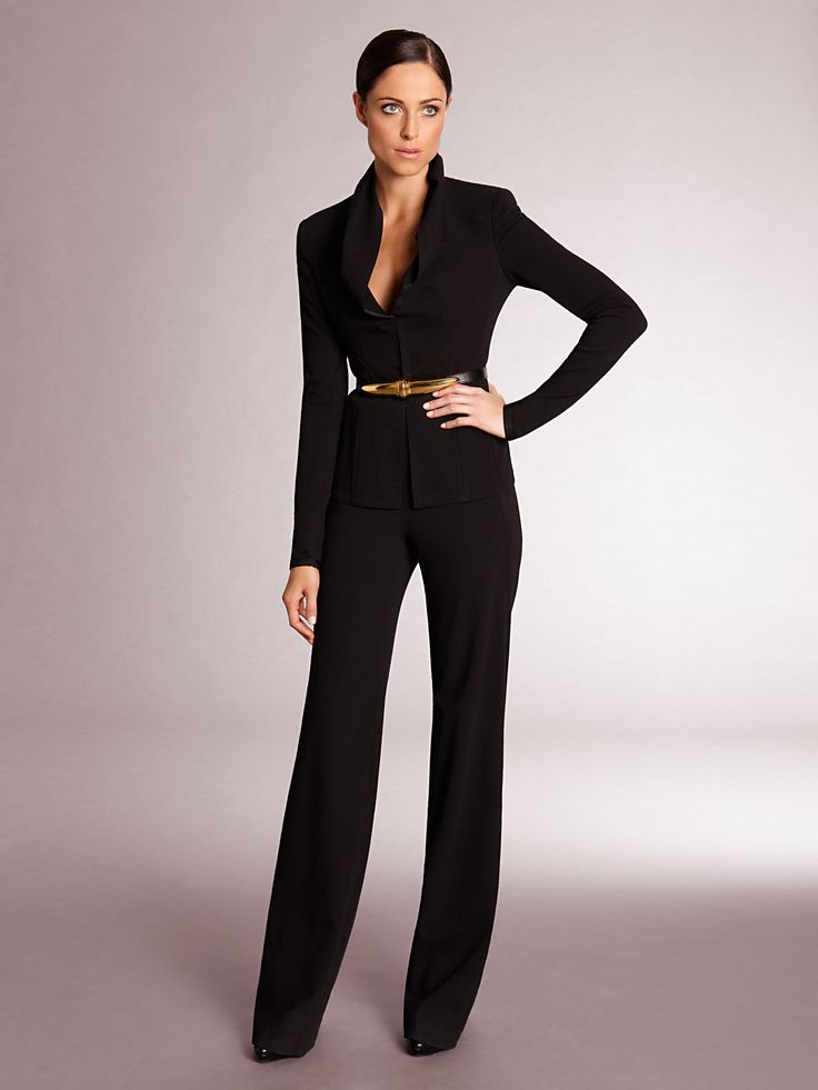 129 best Wide leg pant suits images on Pinterest | Pant suits ...
