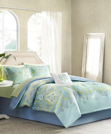 Look what I found on #zulily! Blue & Green Bedding Set #zulilyfinds