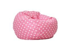 @Overstock.com - BeanSack Polka-dot Pink Bean Bag Chair - This BeanSack bean bag lounge chair is filled with long-lasting polystyrene beans for ultimate comfort. This bean bag chair has a fun polka-dot pattern and is double stitched for safety.  http://www.overstock.com/Home-Garden/BeanSack-Polka-dot-Pink-Bean-Bag-Chair/5306286/product.html?CID=214117 $40.24