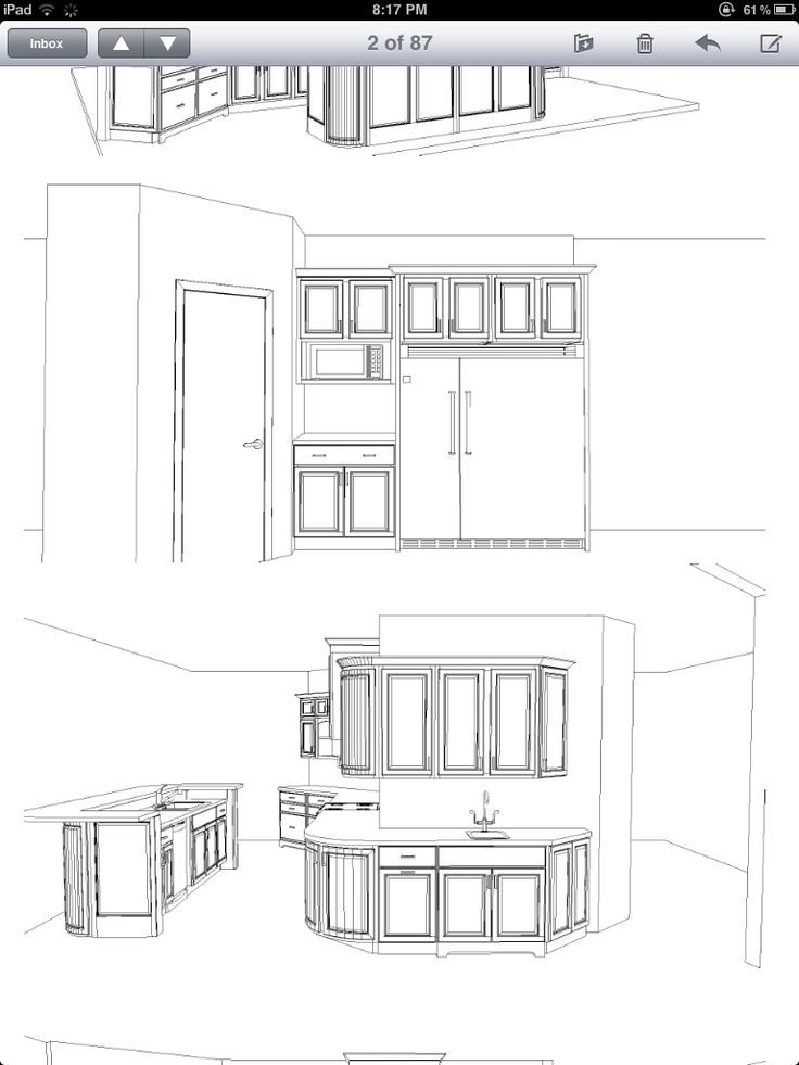 54 best images about misc drawings elevations for custom for Drawing kitchen cabinets