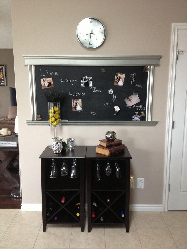 Chalkboard And Kitchen Decor Kitchen Organization