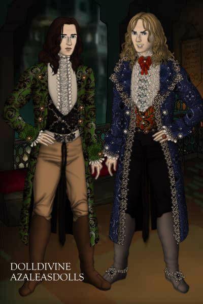 Lestat de Lioncourt and Louis de Pointe du Lac ~ by Kytheira ~ created using the LotR Hobbit doll maker | DollDivine.com